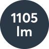 Ljusflöde: 1105lm