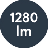 Ljusflöde: 1280lm