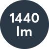 Ljusflöde: 1440lm