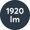 Ljusflöde: 1920lm