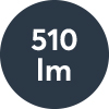 Ljusflöde: 510lm