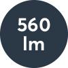 Ljusflöde: 560lm